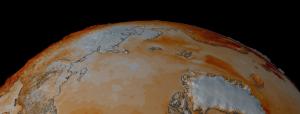 Visualizzazione NASA delle tendenze di temperatura della superficie artica
