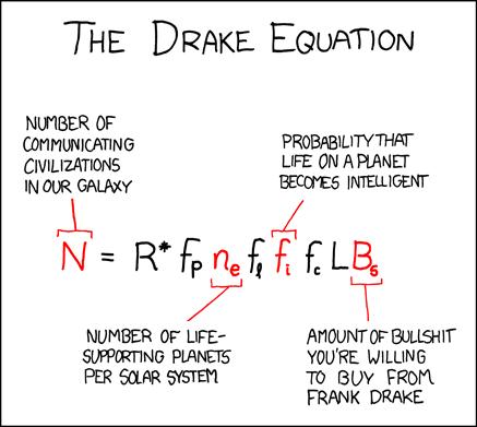l'equazione di drake secondo xkcd