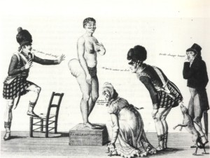La Belle Hottentot, a 19th century French print of Baartman