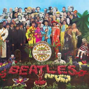 La copertina originale di Sgt. Pepper's Lonely Hearts Club Band