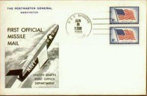 Una delle cartoline consegnate via missile dalla USS Barbero