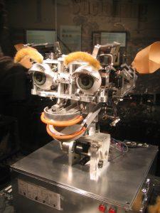 Kismet, la testa robotica prodotta dal MIT, in grado di riconoscere e simulare le emozioni (credit: photo by Jared C. Benedict // CC BY-SA 2.5)