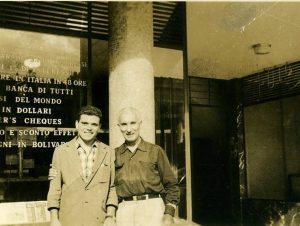 La foto del 1955 che ritrae Francesco Fasani