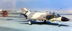 Un cacciabombardiere F-4 Phantom II in fase di atterraggio. (credit: 16 aprile 1974, Pubblico Dominio).