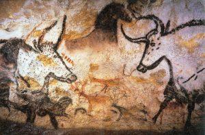 Alcune delle pitture rupestri dipinte nelle grotte di Lascaux più di 17.000 anni fa (credit: photo by Prof Saxx, CC BY-SA 3.0)