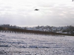 Ricostruzione di un UFO presso il lago di Costanza, nel sud della Germania (credit: Stefan-Xp, CC BY-SA 3.0)