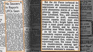 Il Montreal Gazette del 16 novembre 1957, a pag.25 cita gli eventi di Levelland (credit: Pubblico Dominio)