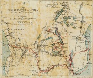 La ricostruzione dei viaggi di David Livingstone in Africa, dal 1851 all'anno della morte (credit: Pubblico Dominio)