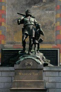 Il monumento di Guglielmo Tell a Altdorf, opera di Richard Kissling a fine 1800 (credit: Roland Zumbühl, CC BY-SA 3.0)