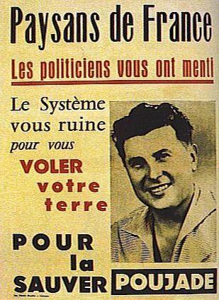 Volantino di Pierre Poujade